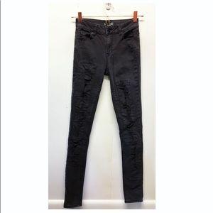Kendall & Kylie | Hi-Rise Distressed Skinny Jeans